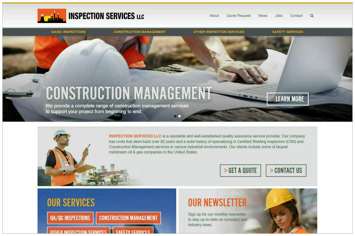 Inspection Services Website