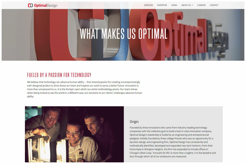 Optimal Design Website
